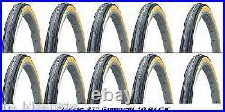 10PACK KENDA K35 Gumwall 27x1-1/4 Road Bike Tires Pair Fixed Gear Classic 27