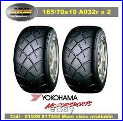 165/70/10 1657010 Yokohama Advan A032R Tyres Track Day/Race/Road x 2 PCS