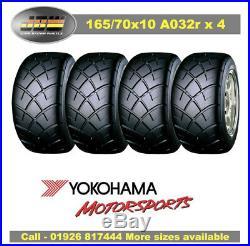 165/70/10 1657010 Yokohama Advan A032R Tyres Track Day/Race/Road x 4 PCS
