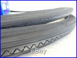 27 x 1 1/4 Bicycle All Black Tires & Tubes with liners for Road Bikes & other 27