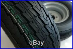 2 X Trailer Wheels And Tyres 20.5 X 8.0-10 Atv On Road / Off Road 4 Pcd, 4 Ply