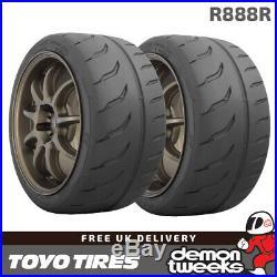 2 x 225/40/18 92Y XL Toyo R888R Road Legal RaceRacingTrack Day Tyres 2254018