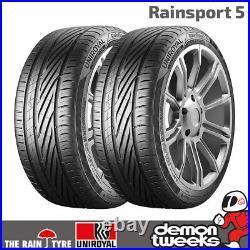 2 x Uniroyal RainSport 5 Performance Road Car Tyres 205 55 R16 91V