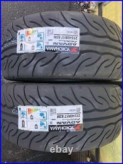 2x 215/40 R17 Yokohama Advan Neova AD08RS 83W Road Legal, Race Brand New
