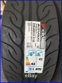 2x 235/40 R18 Yokohama AD08R 91W-Track Day/Race/Road brand-New