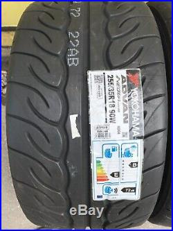 2x 255/35 R18 Yokohama Advan Neova AD08RS -Track Day/Race/Road-brand-New Tyres