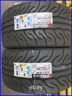 2x 255/40 R17 Yokohama Advan AD08RS Track Day/Race/Road Brand-New