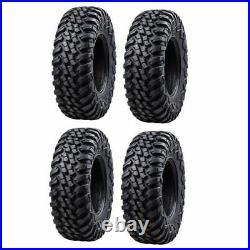 4-Tusk Terrabite Radial 8 Ply UTV Tire Set (4 Tires) 25x8-12 Dot Road