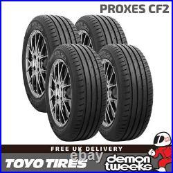 4 x Toyo Proxes CF2 High Performance Road Tyres 195 65 R15 (195/65/15) 95H TL XL