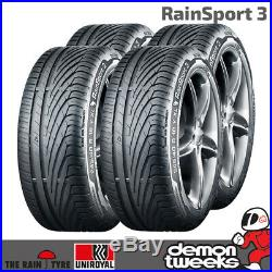 4 x Uniroyal RainSport 3 SSR Runflat Performance Road Tyres 225 45 17 91W