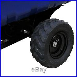 ATV Tipping Trailer Garden Quad Farm Heavy Duty Tractor Off-Road Tyres 295kg