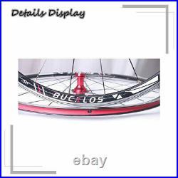 BUCKLOS Road Bike Wheelset 700c Quick Release Cycling Wheel fit 7-11s Cassette