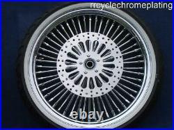 DNA Mammoth 52 Spoke Chrome Wheels 3 Rotors Tires Harley Touring 09-20 Road King