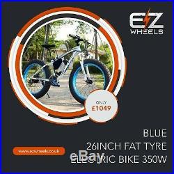 EZwheels 26 Blue Fat Tyre Electric off-road style e-bike