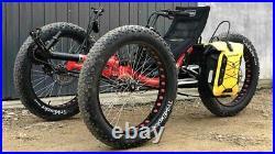Full Fat Real Off-roading Three Wheels Fat Tyre Recumbent Trike Adult Bike