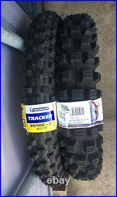 MICHELIN TRACKER 21 & MITAS C02 120/18 (ROAD LEGAL) Tyre combo. Trail, Enduro