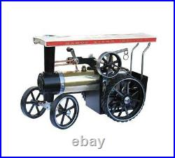 Mamod Working Steam Traction Engine Te1a Brass Edition With Road Tyres