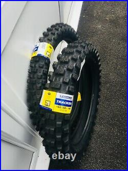 Michelin Tracker Road Legal Enduro Tyres Pair 21 Front 18 (140) Rear