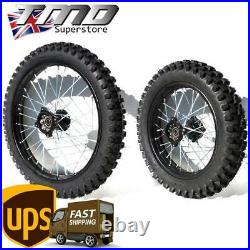 Road Legal Pit Bike Wheels & Tyres Set 17 Front 14 Rear 15mm Pair E Approved