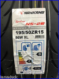 X4 195/50zr15 86w XL Nankang Ns-2r 180 Street Track Day/ Road And Race Tyres