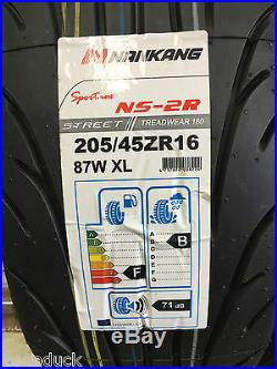 X4 205/45zr16 87w XL Nankang Ns-2r 180 Street Track Day/ Road And Race Tyres